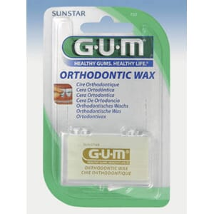 GUM Orthodontic Wax pasientvoks transparent 5 stenger 1 stk