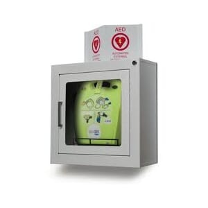 AED Plus skap m/alarm for AED Plus med veske