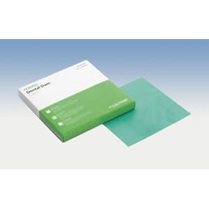 Dental Dam kofferdam latex grønn medium 15x15 cm 36 stk