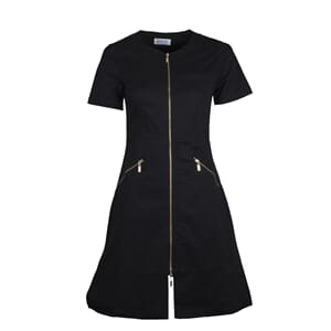Zip Dress kort erm Svart L