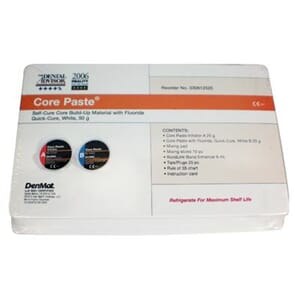 Core Paste White Q/C Fluoride Kit (2x25 g)
